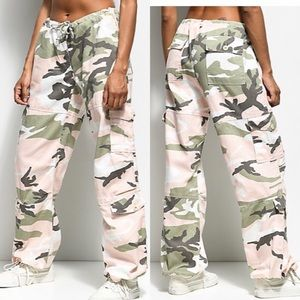 ROTHCO Pink/Green Women's Paratrooper Camo Pants